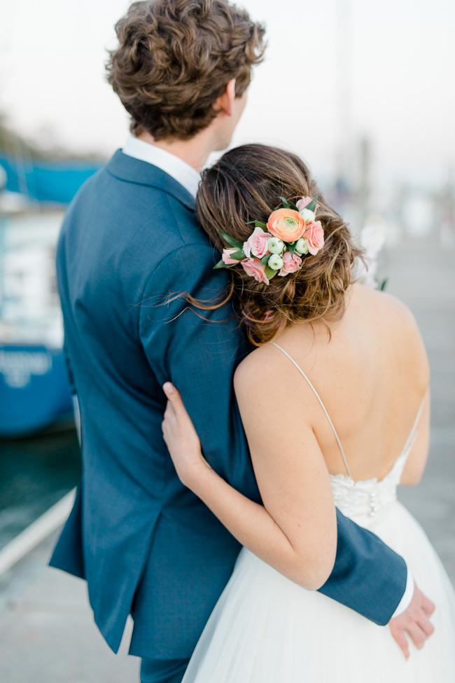 Floral details for Savannah wedding hair