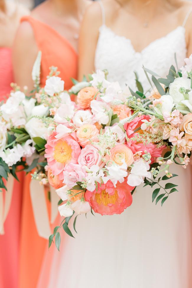 Pink peony bouquet for Savannah wedding