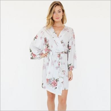 Knee Length Kimono Robe