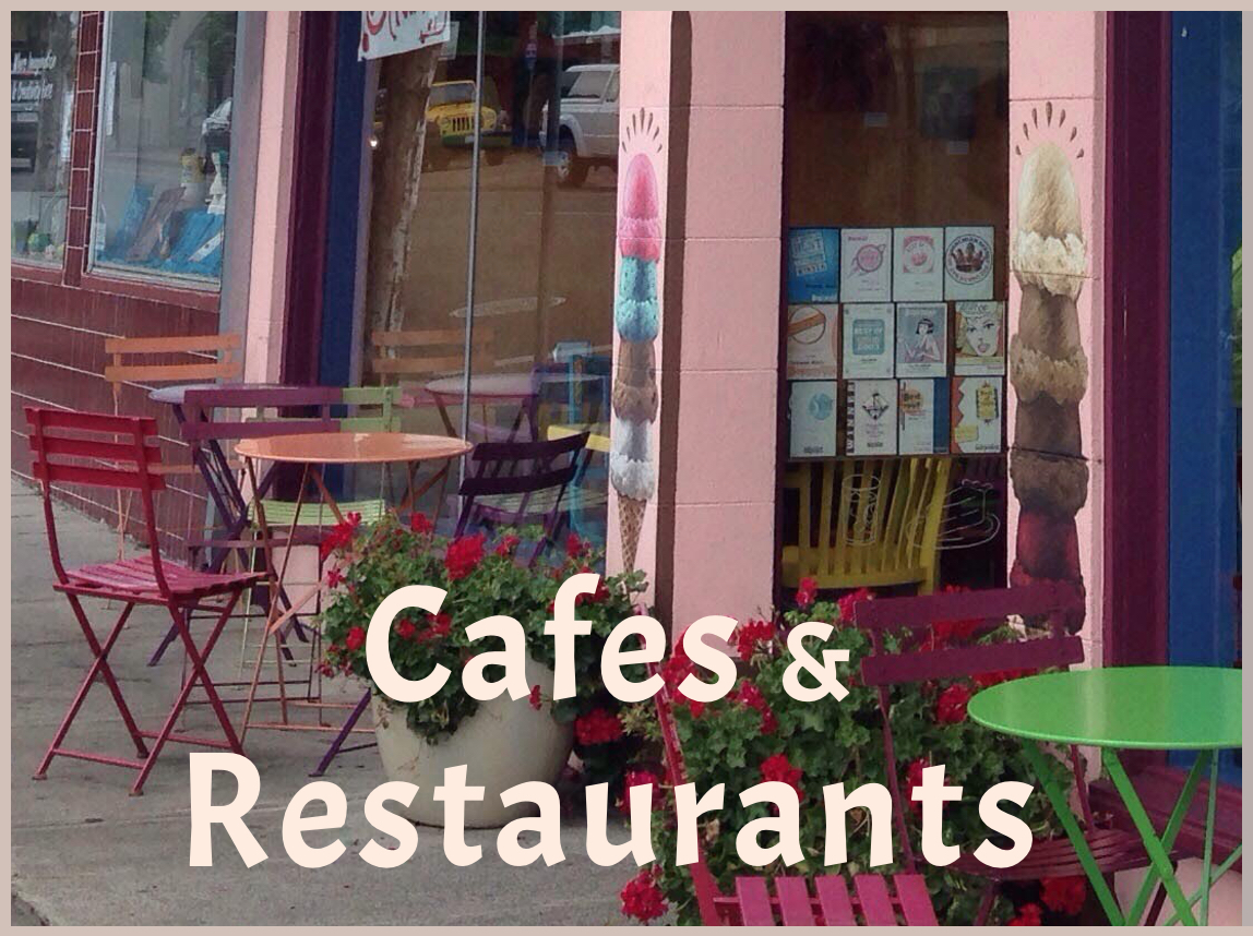 Downtown Gathering Spots - Cafes, Ice Cream Parlors, Tea Houses, Bars, Restaurants, Night Life