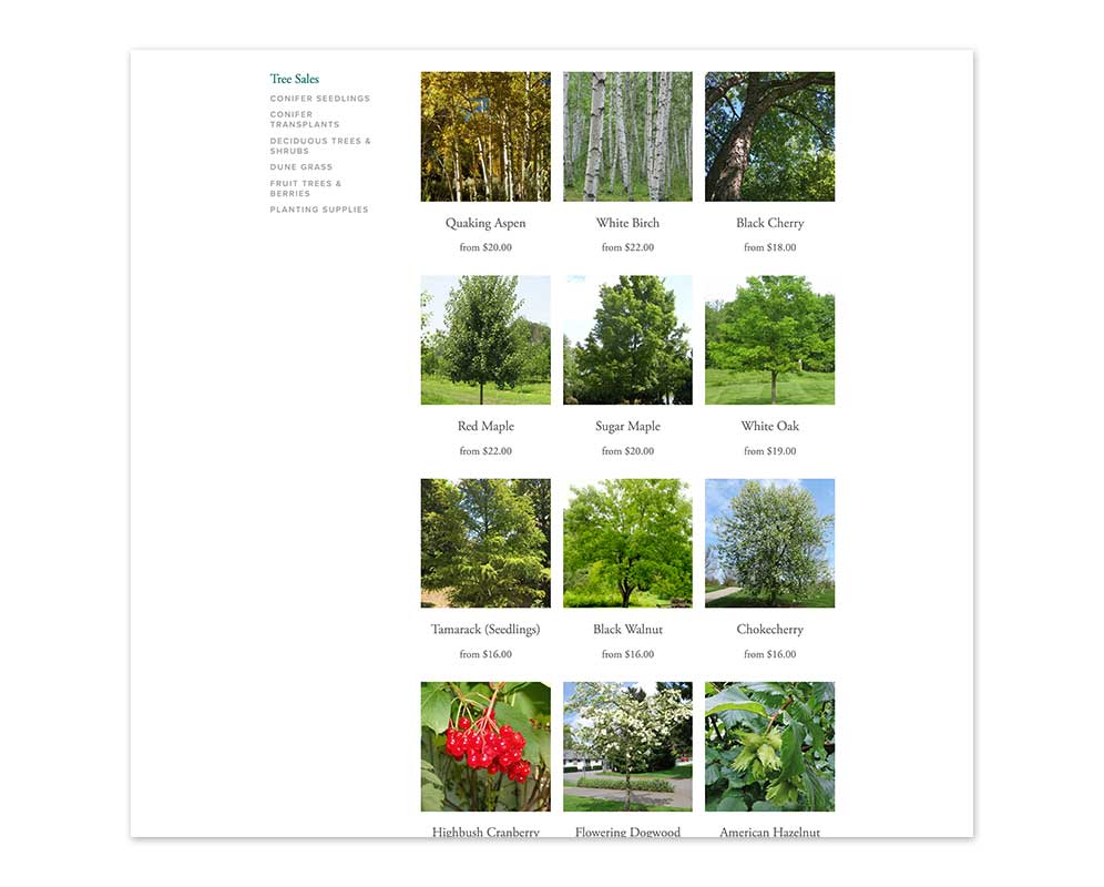 Tree Sale Category Product Page