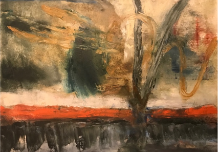 """ARTIST: Jack Saul  BIRTH COUNTRY: USA  LIVES AND WORKS IN: New York NY  WEBSITE: http://www.jacksaul.org/art-projects  TITLE: Moral Injuries 3459  YEAR: 2018  MATERIALS: Oil on Paper  DIMENSIONS (HxW): 11""""x14.5""""  COURTESY: Artist  ARTIST STATEMENT    As an artist and psychologist, my work explores the interface between artistic representation, collective trauma and healing. For the past 15 years I have worked extensively as a therapist and consultant with war reporters and photographers, humanitarian workers, human rights practitioners and military veterans who were involved in the recent wars in Afghanistan and Iraq. In this series  Moral Injuries  I give an embodied and visual expression of my own experience as a witness to the moral struggles that accompany the traumas of war. Painting is a visceral outlet that enables me to maintain moral clarity and to be a better listener.          ARTROPOCENE    A NEW ART AND CULTURE SUMMIT LAUNCHES IN HONOLULU   Artropocene, the inaugural iBiennale, is an itinerant and island-based art and culture event presenting sixty-one artists from seventeen countries. It will be staged from 9 until 24 March 2019. The art summit is an exciting opportunity for artists in Hawaii to interface with art practitioners and experts from around the globe. It will take place at the Y Center for Visual Arts in the Iwilei-Kapalama neighborhood of Honolulu, Hawaii. The summit is co-chaired by David Medalla and Adam Nankervis.   Artropocene: iBiennale MMXIX  is adapted from the definition of the geologic epoch with the greatest human influence on the environment. Its grass-roots philosophy and involvement will address local issues with timely global resonances. After its launch in Honolulu, it will travel to another island location in 2021, reimagining the current fixed-location biennial model. Its themes will include the ways that contemporary artists view diverse cultures as they interact and coexist in a global society.  Co-chairs David Medalla an"""