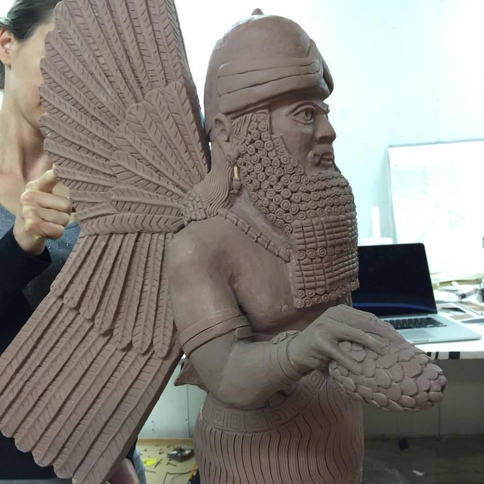 winged genie in clay aaron delehanty.jpg