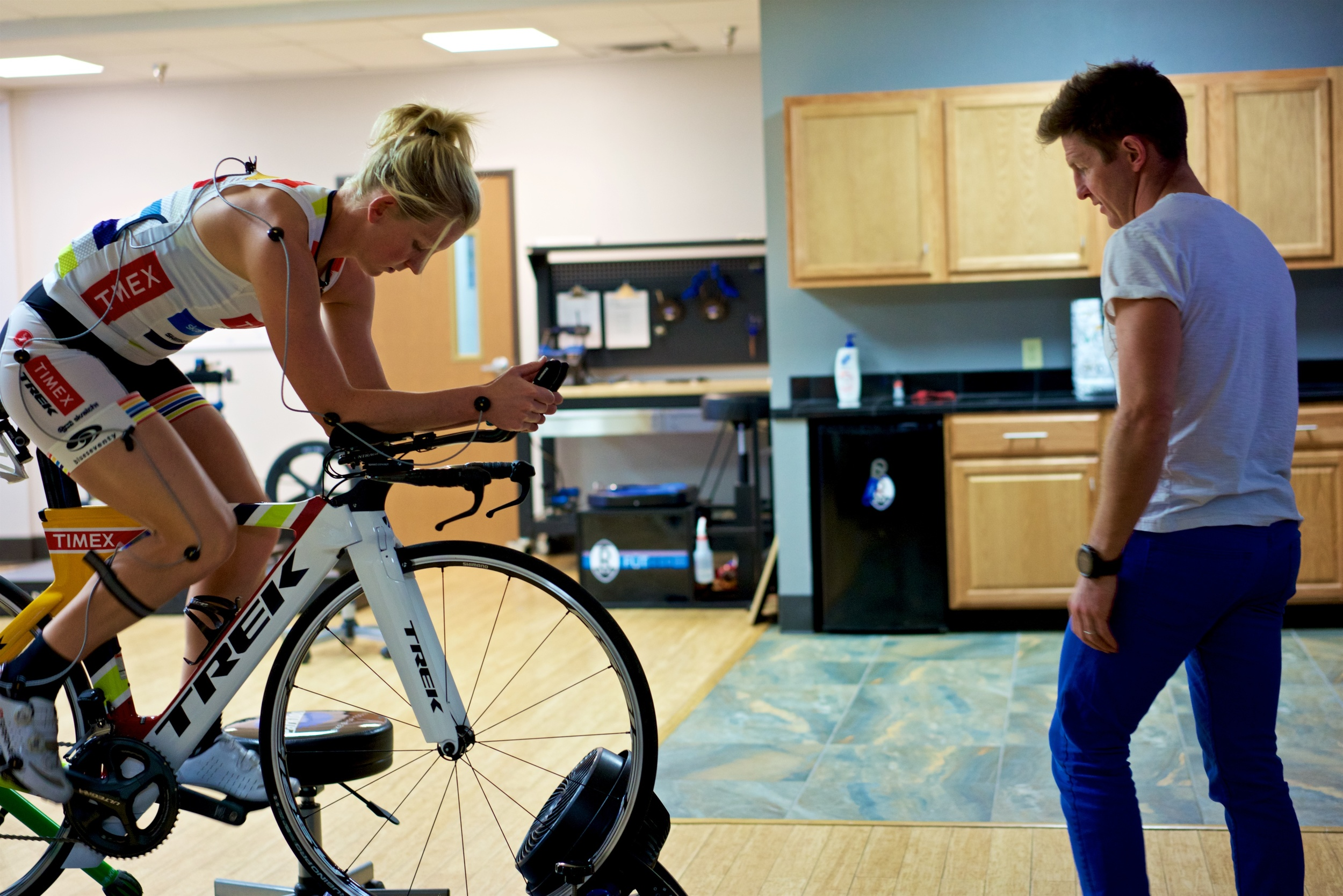 It was clear that much could be done to adjust Jeanni's fit to make her more efficient and faster.