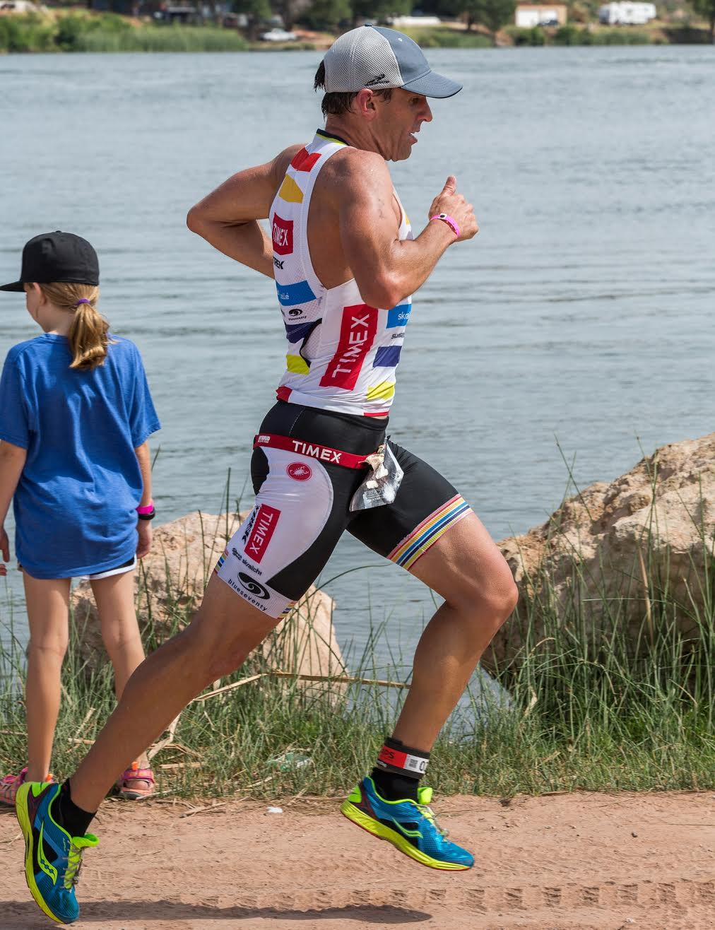 Tim on his way to an age group win in TX