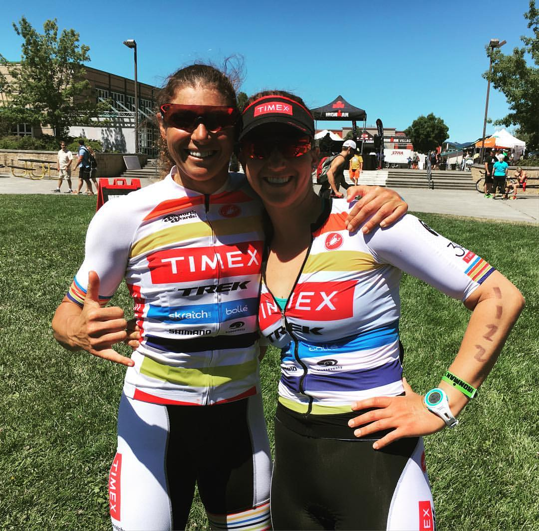 Felicity Joyce came out to cheer on the team at Vineman 70.3