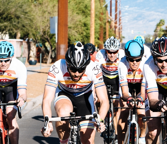 Pierre-Marc leading the pack at camp this March