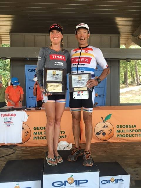 Happy race winners - Wendy and Mike