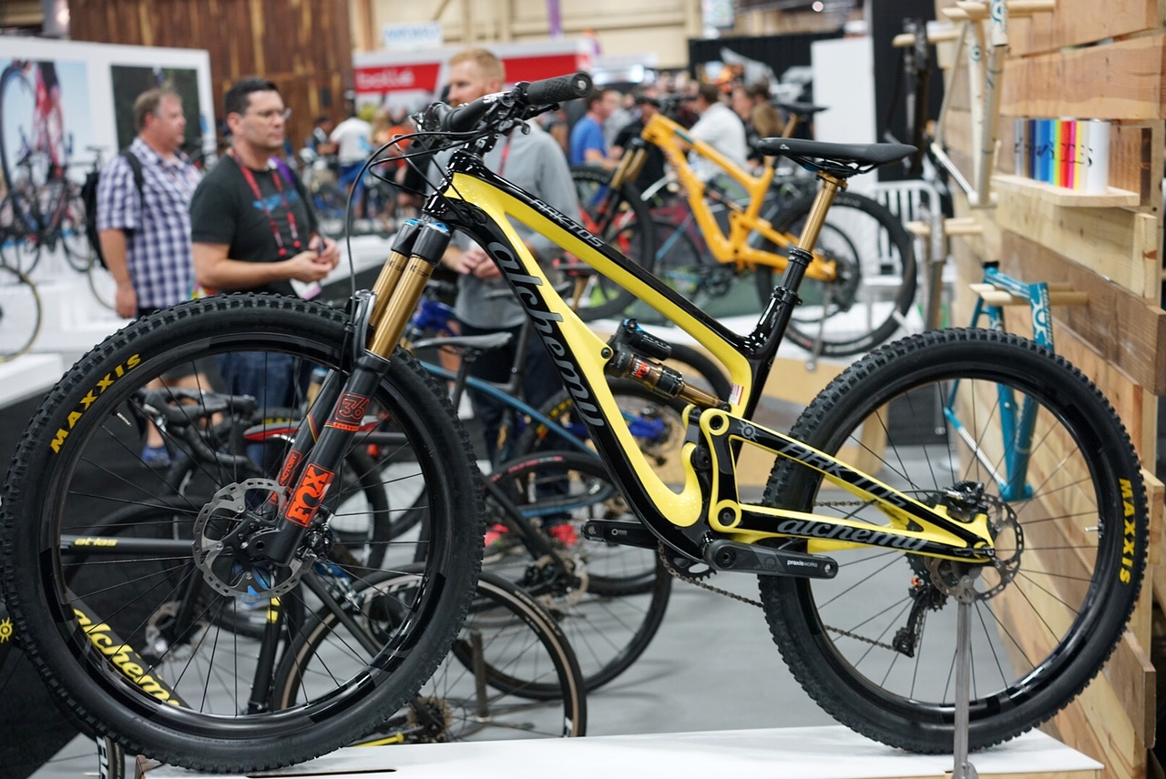This bike was just HOT. Alchemy is a small hand-made bike brand from Colorado and they recently entered the mountain bike world with this beauty. The frame and shock alone retail for well over $3,000.