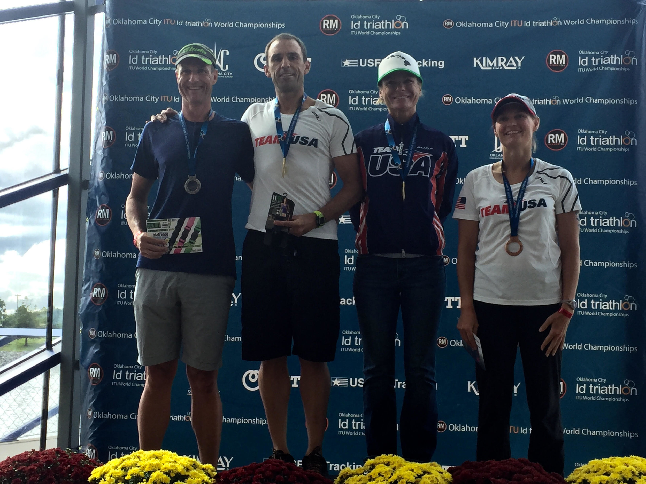 A USA sweep in the 40-44 age group - Tim Hola on the top step