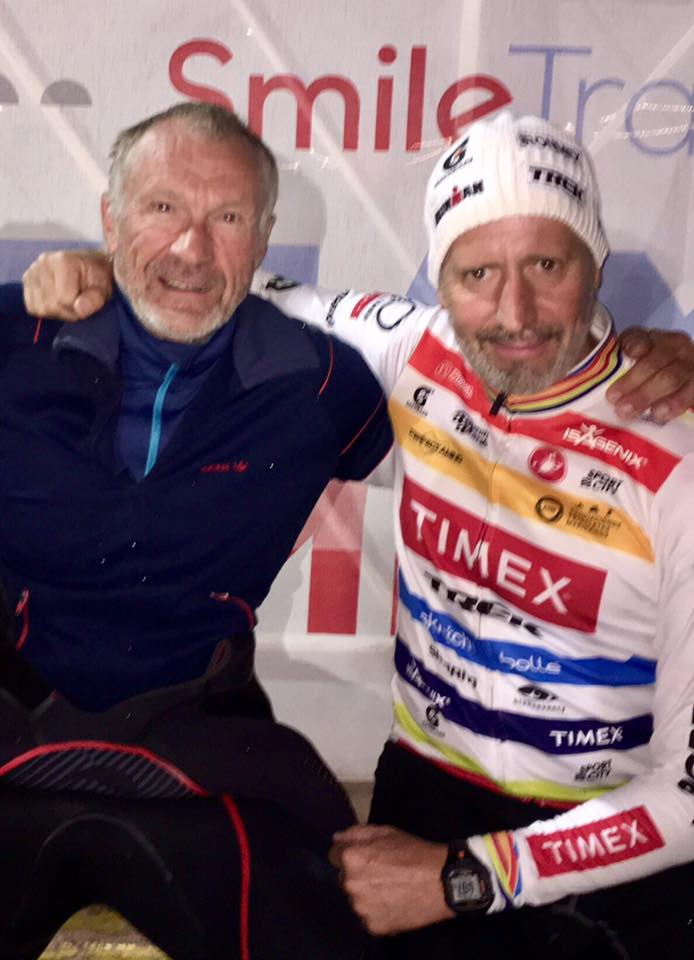353 Ironman finishes between these two guys!