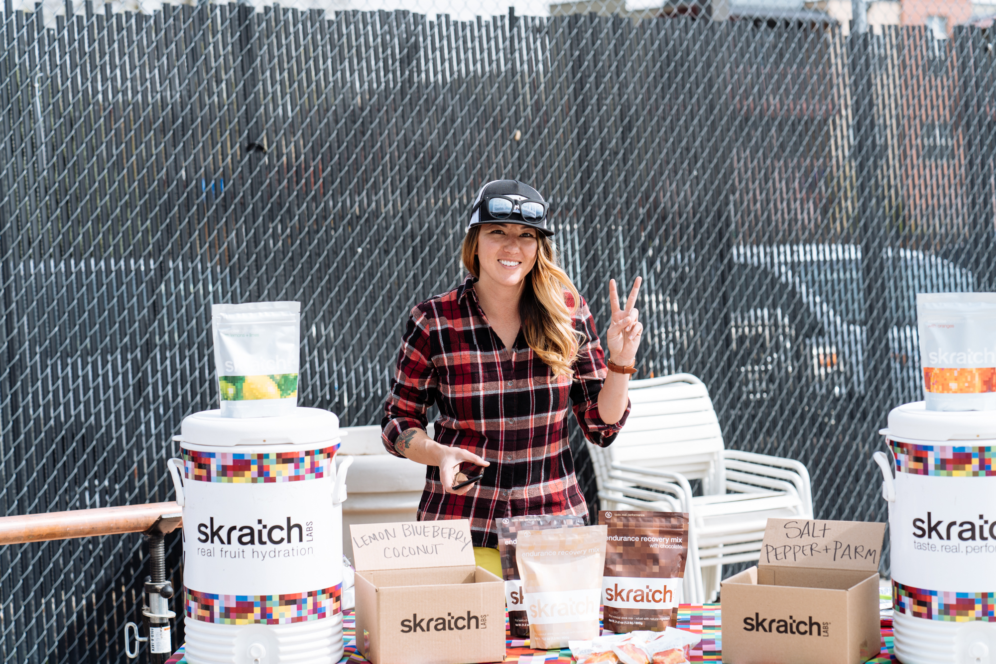 Once again, Skratch Labs were on site to fuel, hydrate, and give a portables wrapping clinic.