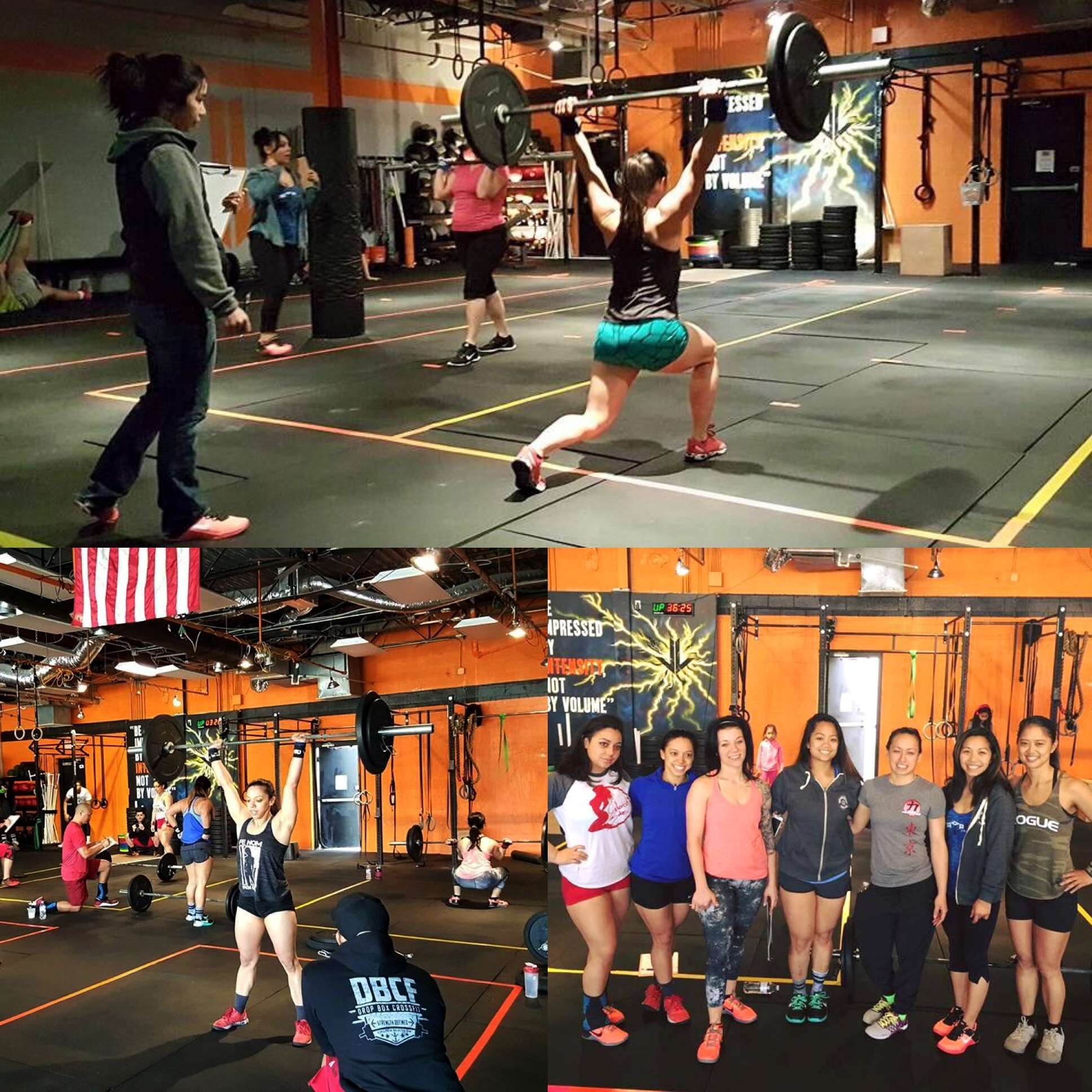 KC participating in her 1st CrossFit Open,'16