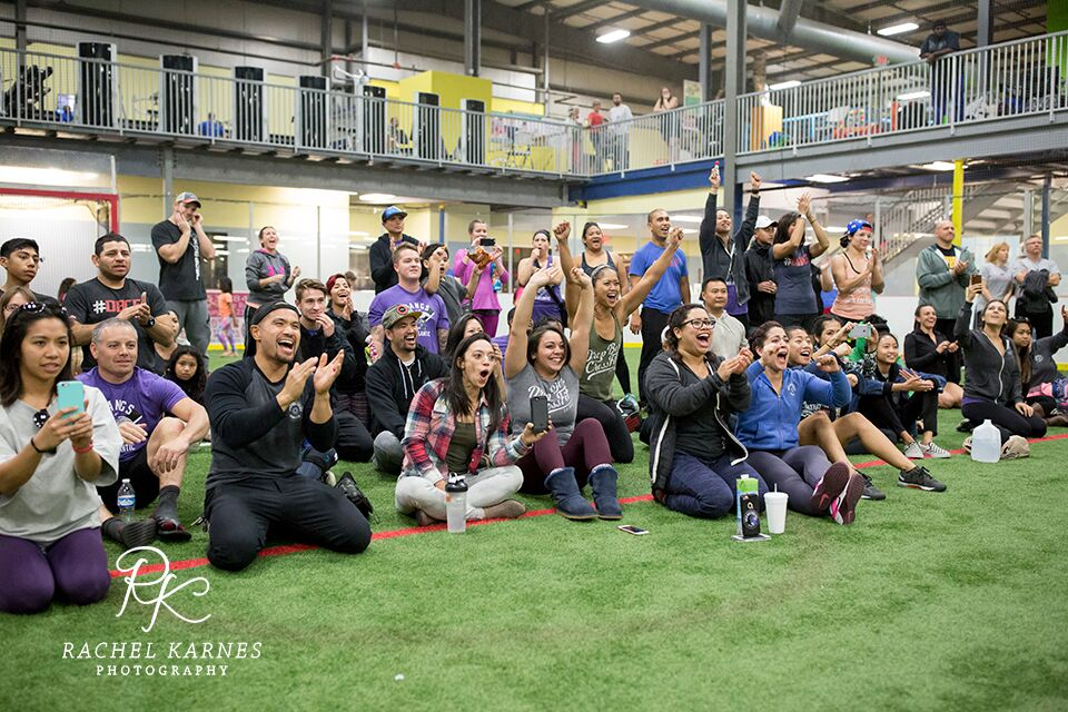 After competing in the RX division the day before, KC joined her DB family to support athletes in the scaled division