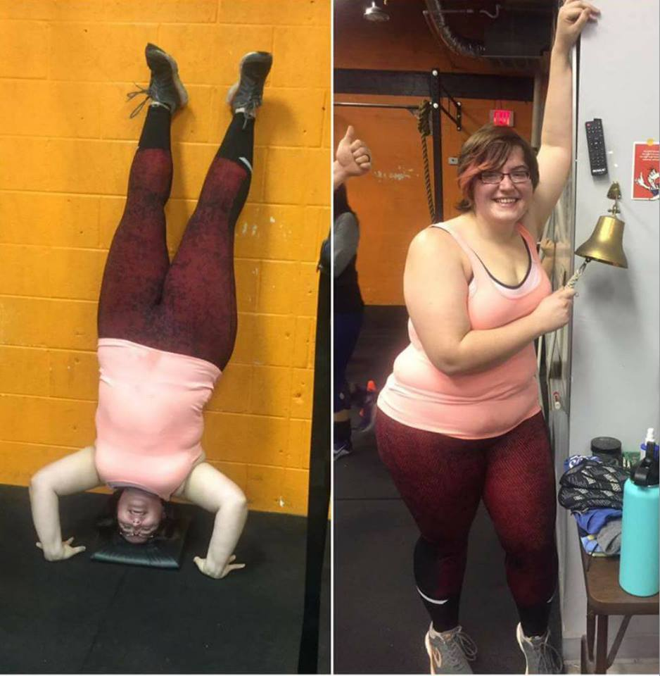 February 2017, Stacey gets her first headstand!
