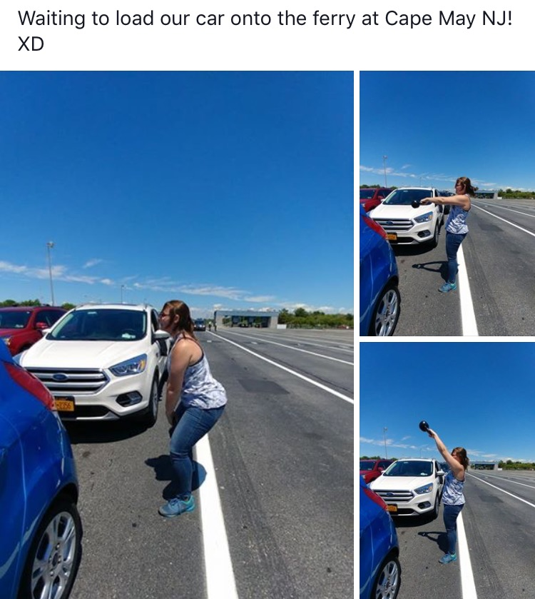 June 2017, why sit in traffic when you can WOD! Go Stacey!