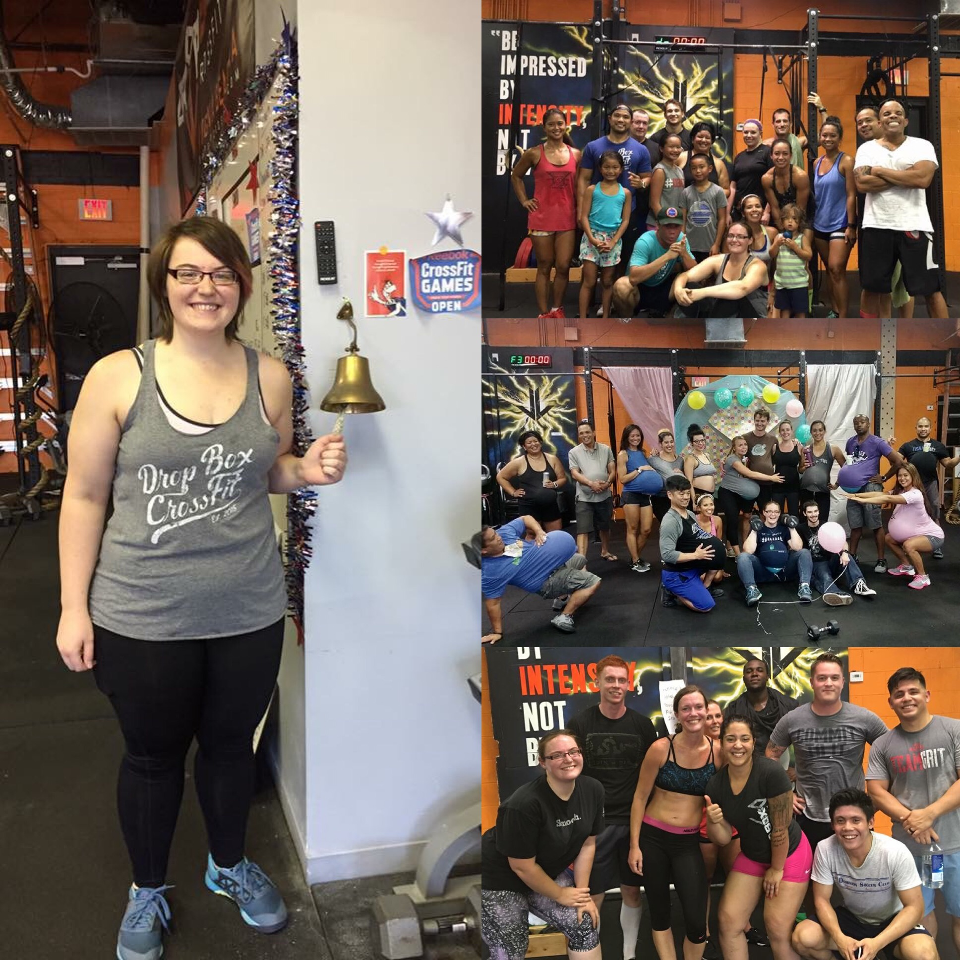 Stacey has been an active participant in all of our Nutrition Challenges held at the box. Here she is at celebrating an 8 week challenge at the PR bell where she lost over 22 pounds!