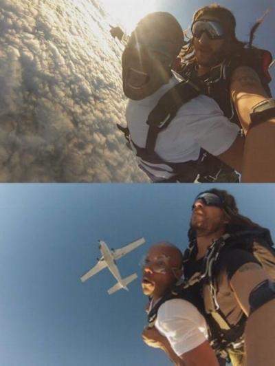 Sky diving in Australia (one of my hobbies or adventures)