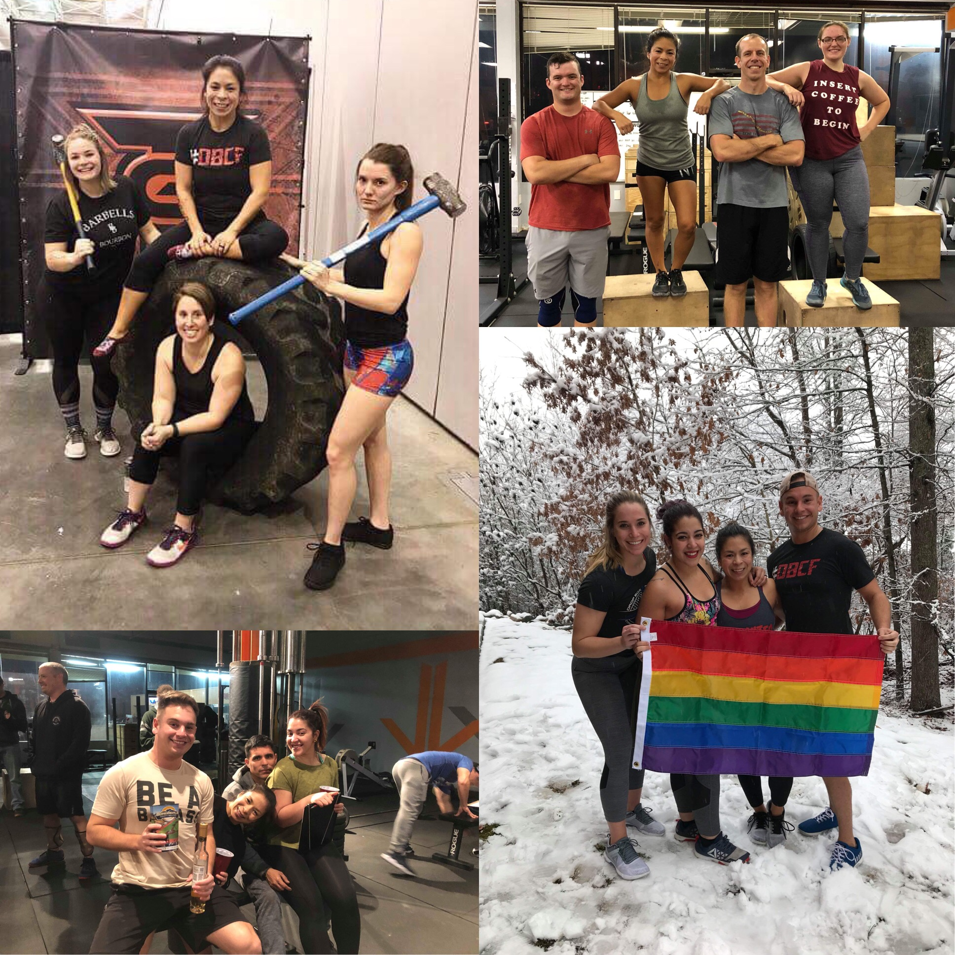 Chriss with some of her gym buddies:/Team Grit '18, very 1st competition/Out WOD, Richmond