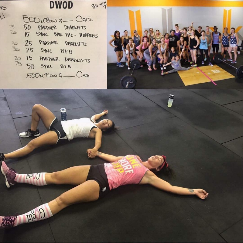 All Girl WOD, June 2017-with partner Jamie