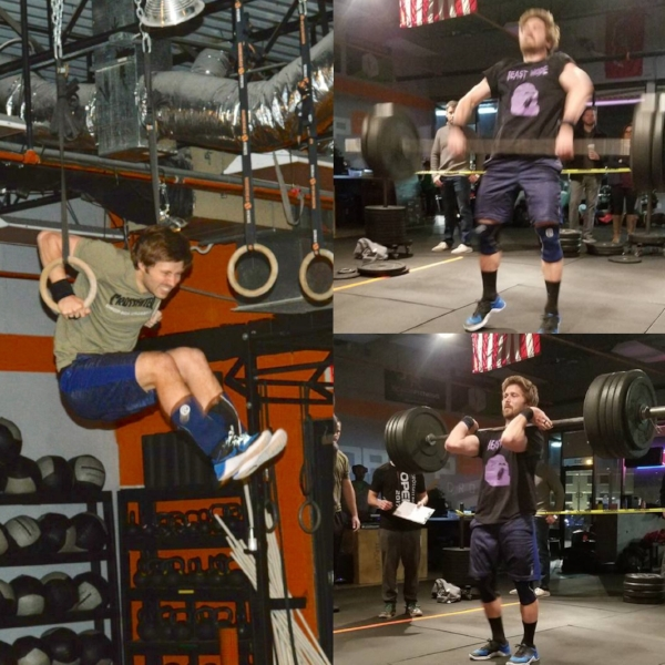 ricky participated in his first open and did awesome! workouts 18.1/18.2A/18.3