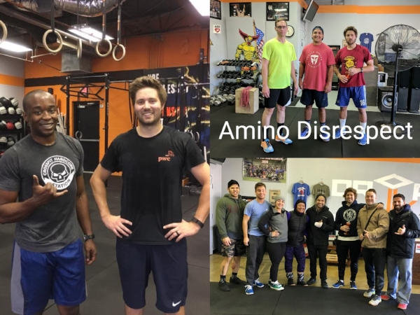 """with buddy Deandre/nutrition team """"amino disrespect""""/dBCF"""