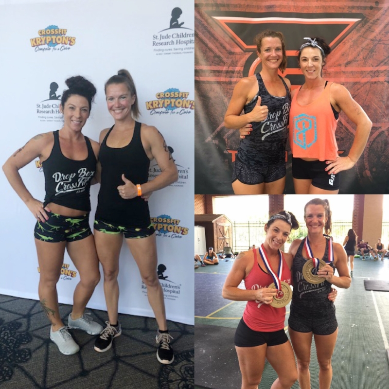 with coach stephanie and fellow teammate: Compete for a cure 2018, Team grit 2017