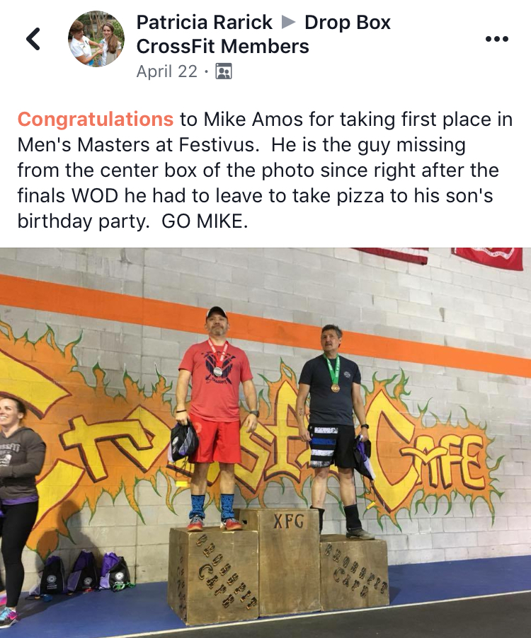 Festivus Games, CrossFit Cafe- Masters Individual #familyfirst