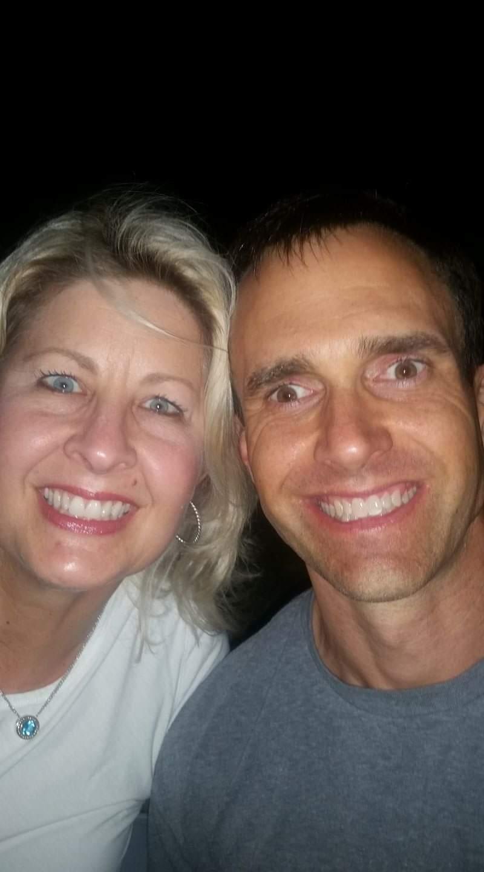 With wife, Roxzanne