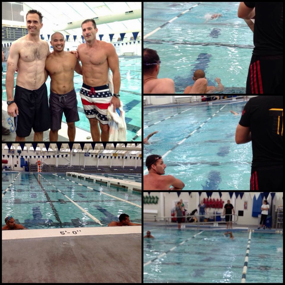 Mike has competed in numerous competitions over the years however this was his first with a swim, Team Grit 2014 w/ G and Art