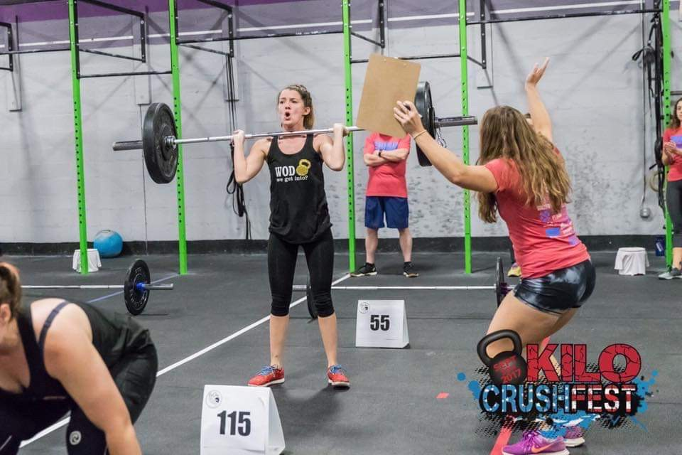 September 2017: Amber teamed up with Stacey again for their first public competition, Kilo Crushfest.