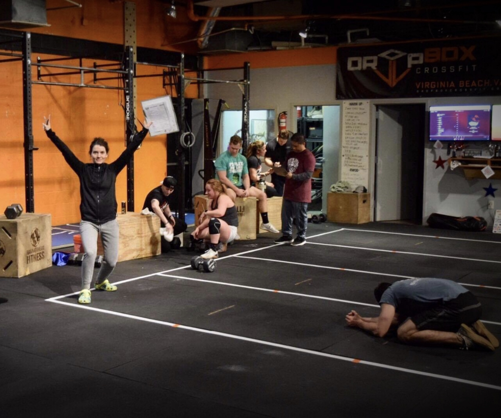 Amber volunteering as a judge for Open Workout 19.3