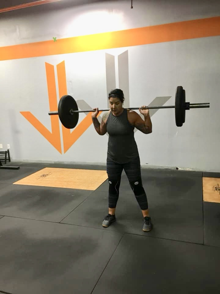 Getting her WOD on at 0530