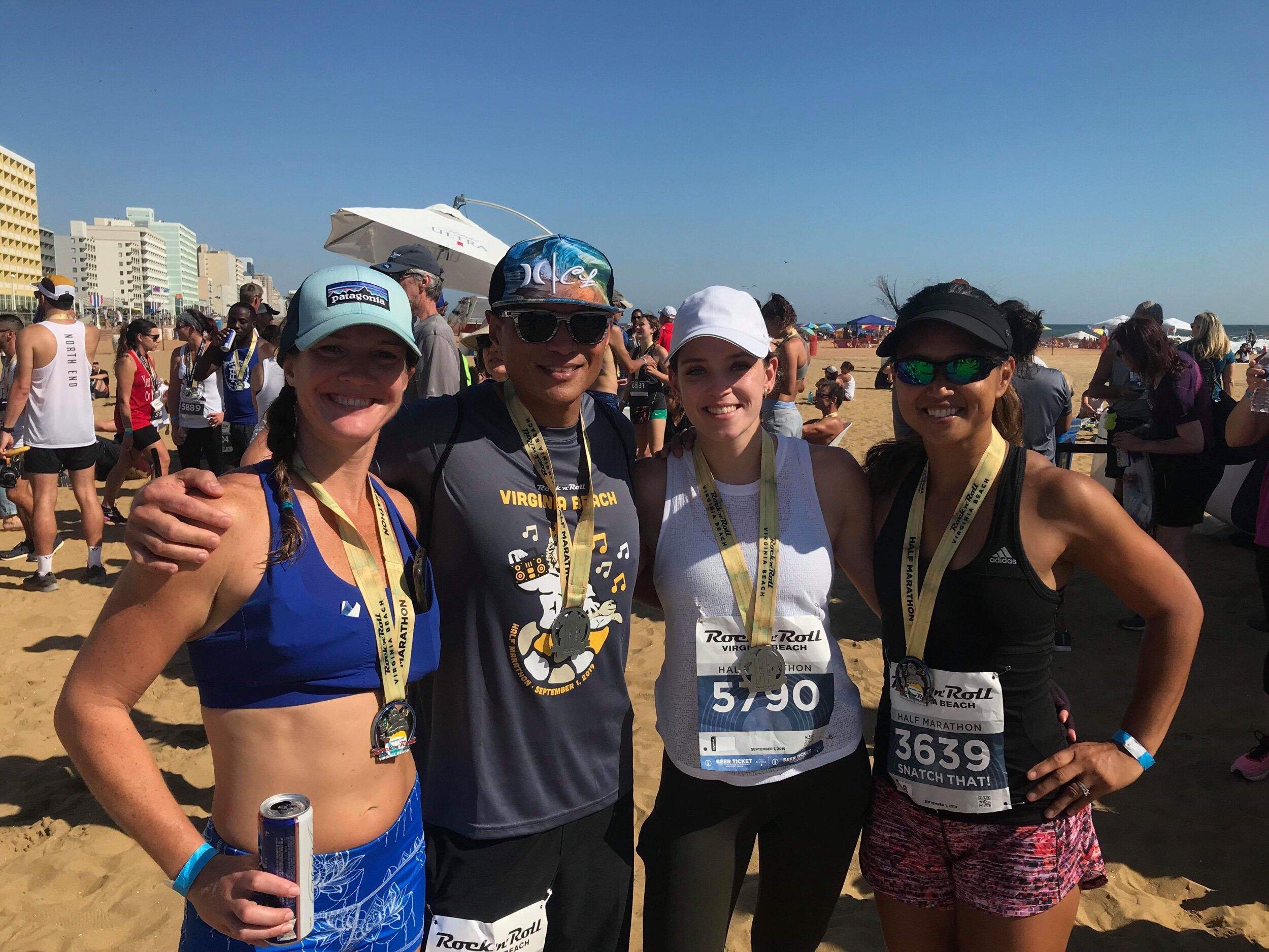 Rock and Roll Half Marathon! Shana's 1st 13.1 mi race! Sept 2019 w/ Stephanie, Gil, & Julie