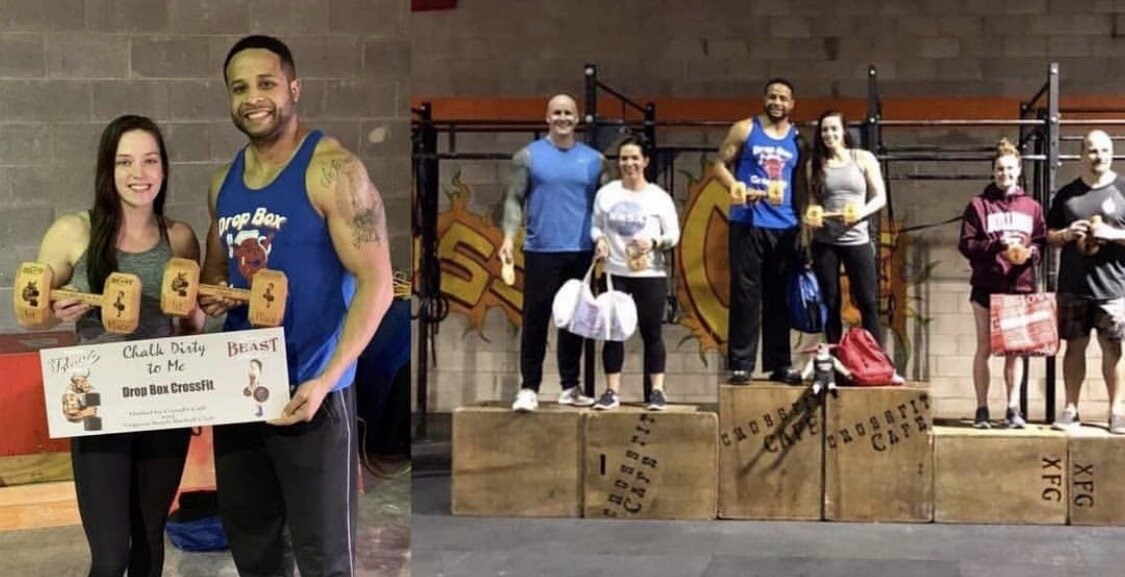 W/ comp partner Sam! BeaUty and & Beast comp, 1st place Scaled Division,, February 2019