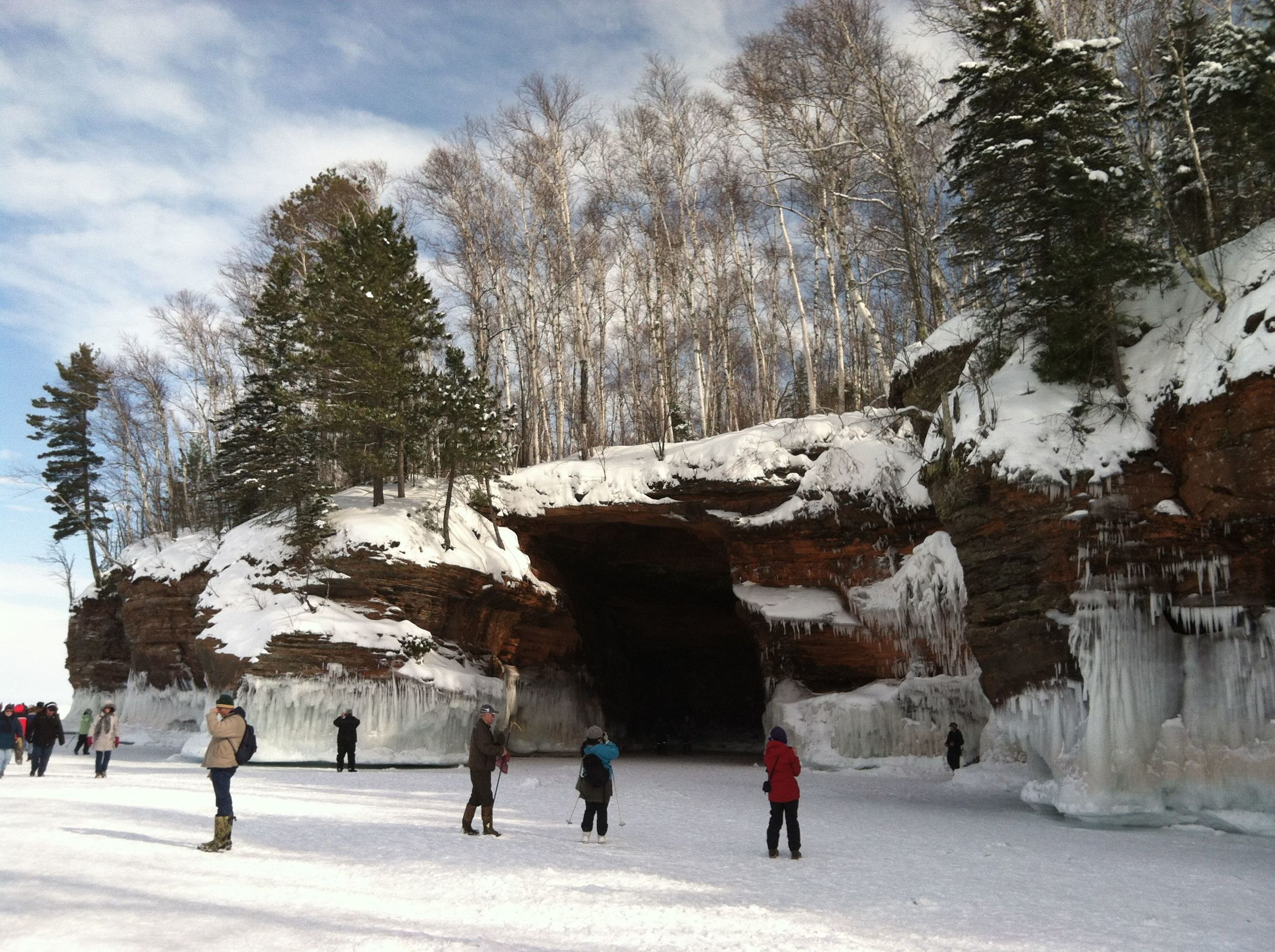 Our extreme winter made the south shore ice caves accessible to thousands of visitors.