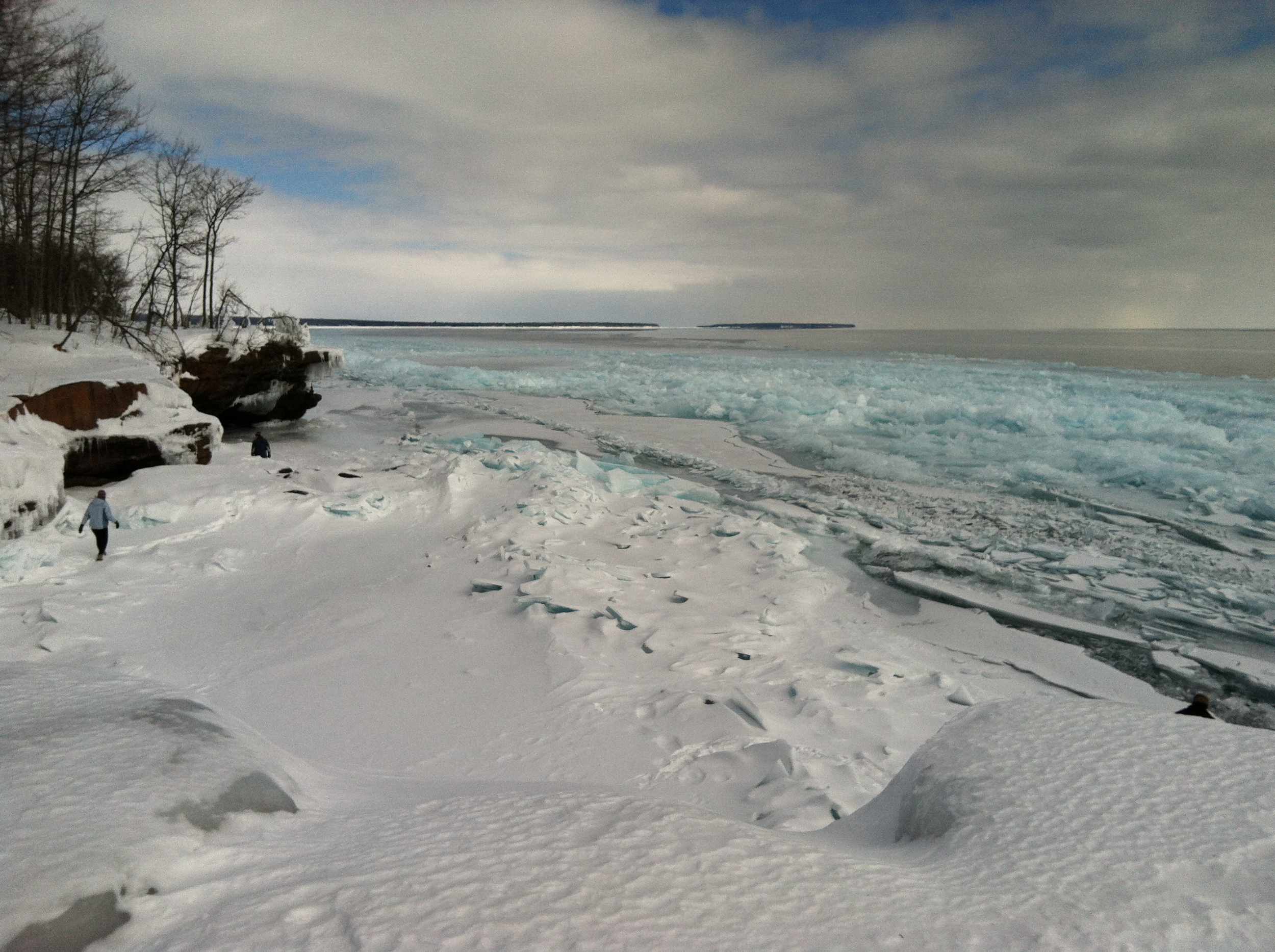 This past winter also brought spectacular Blue Ice off the point at Big Bay State Park.