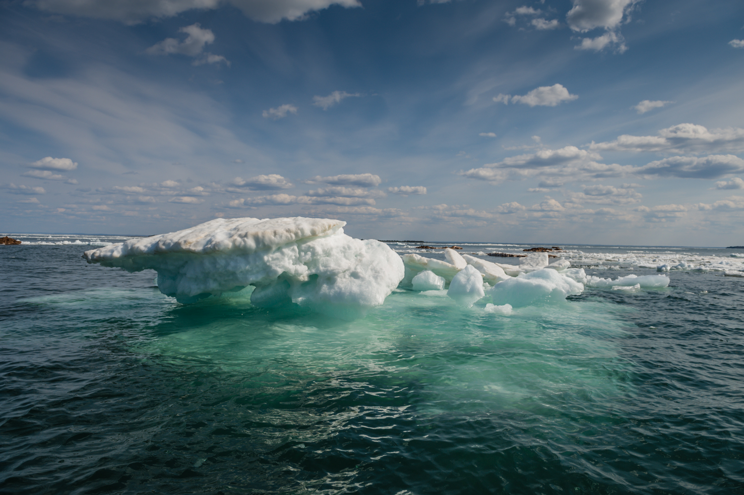 Icebergs in Lake Superior, late May 2014 (photo by Mary Dougherty)