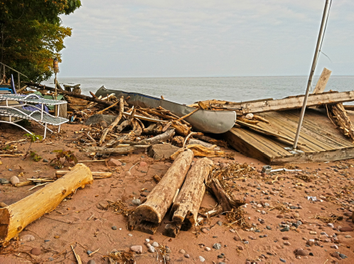 Capser Road beach scene after the storm;photo by Tina Nelson