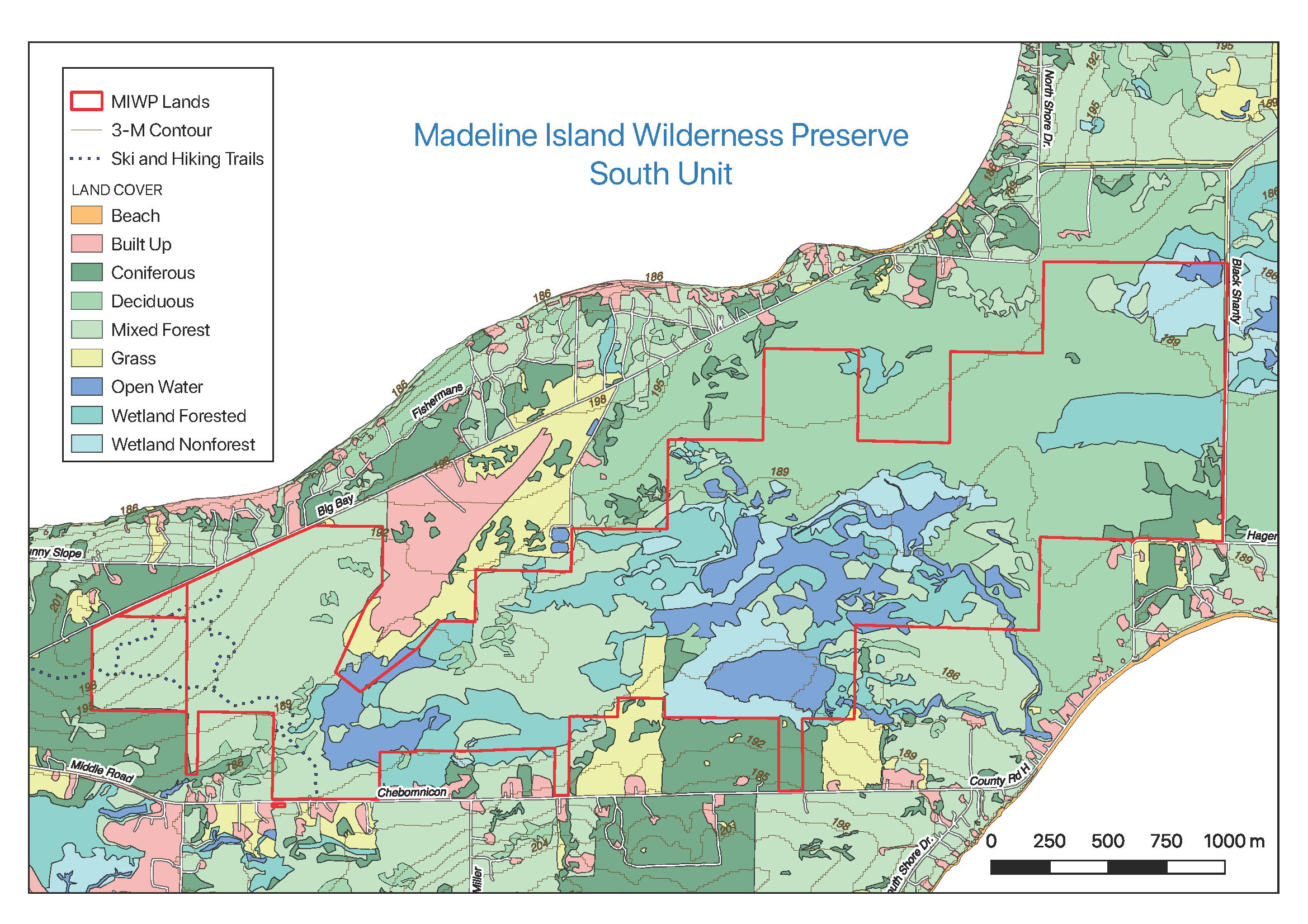 The Wilderness Preserve's South Unit is a 1150 acre mosaic of upland forest, wetland meadow, and open water. It was recently enlarged through a major charitable donation.