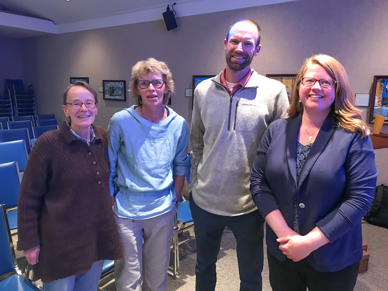 Sue Headley Keller, Co-Chair of the Apostle Islands and Chequamegon Bay Area Community Funds, Bonnie Matuseski, Dr. Cooper, Dr. Johnson