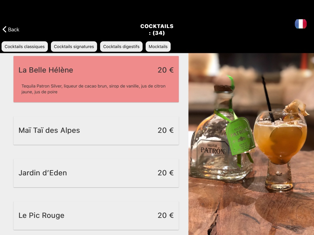 hotel de luxe alpe d'huez menu sur tablettes tactiles.jpg