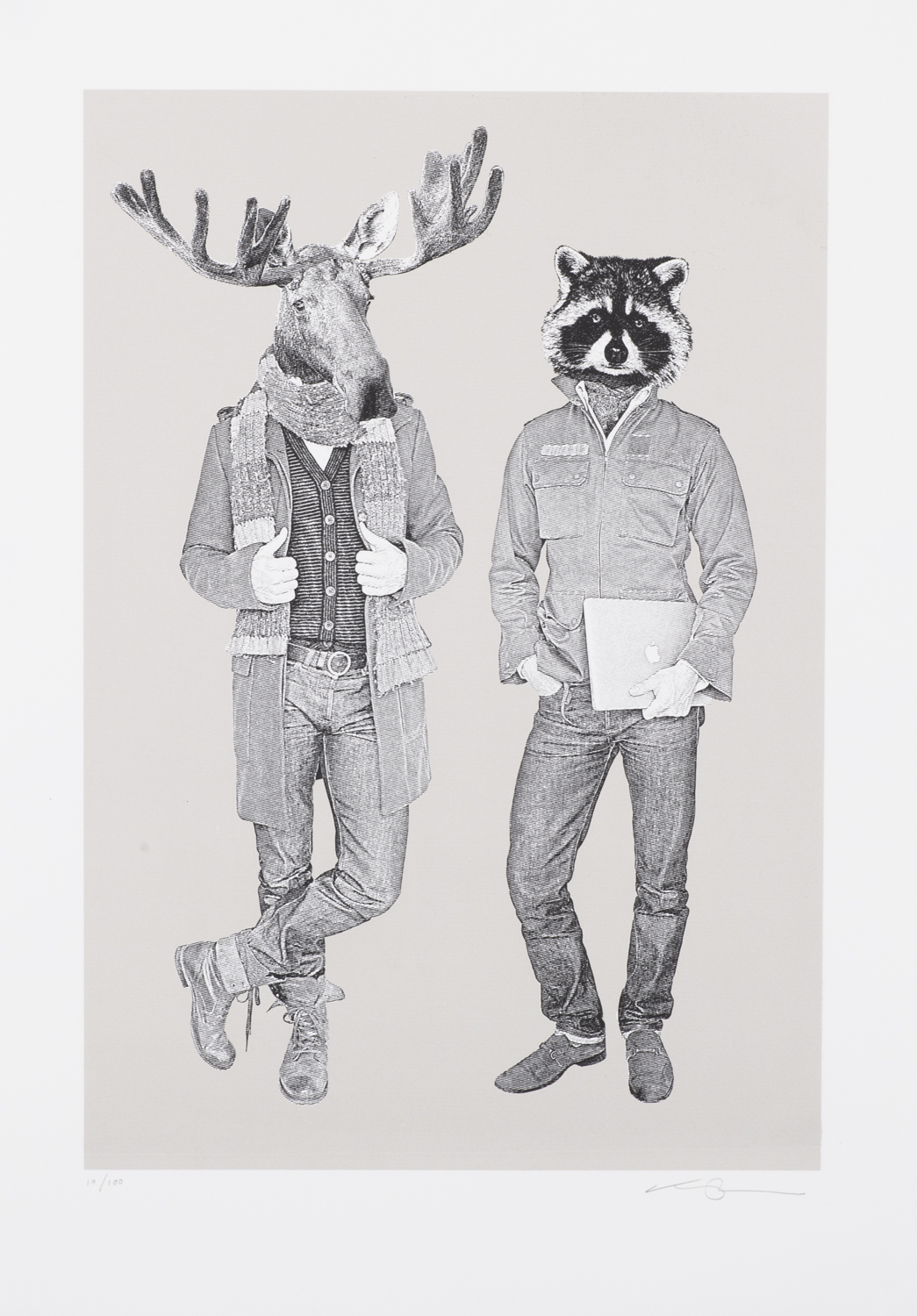 The Moose & Raccoon B&W