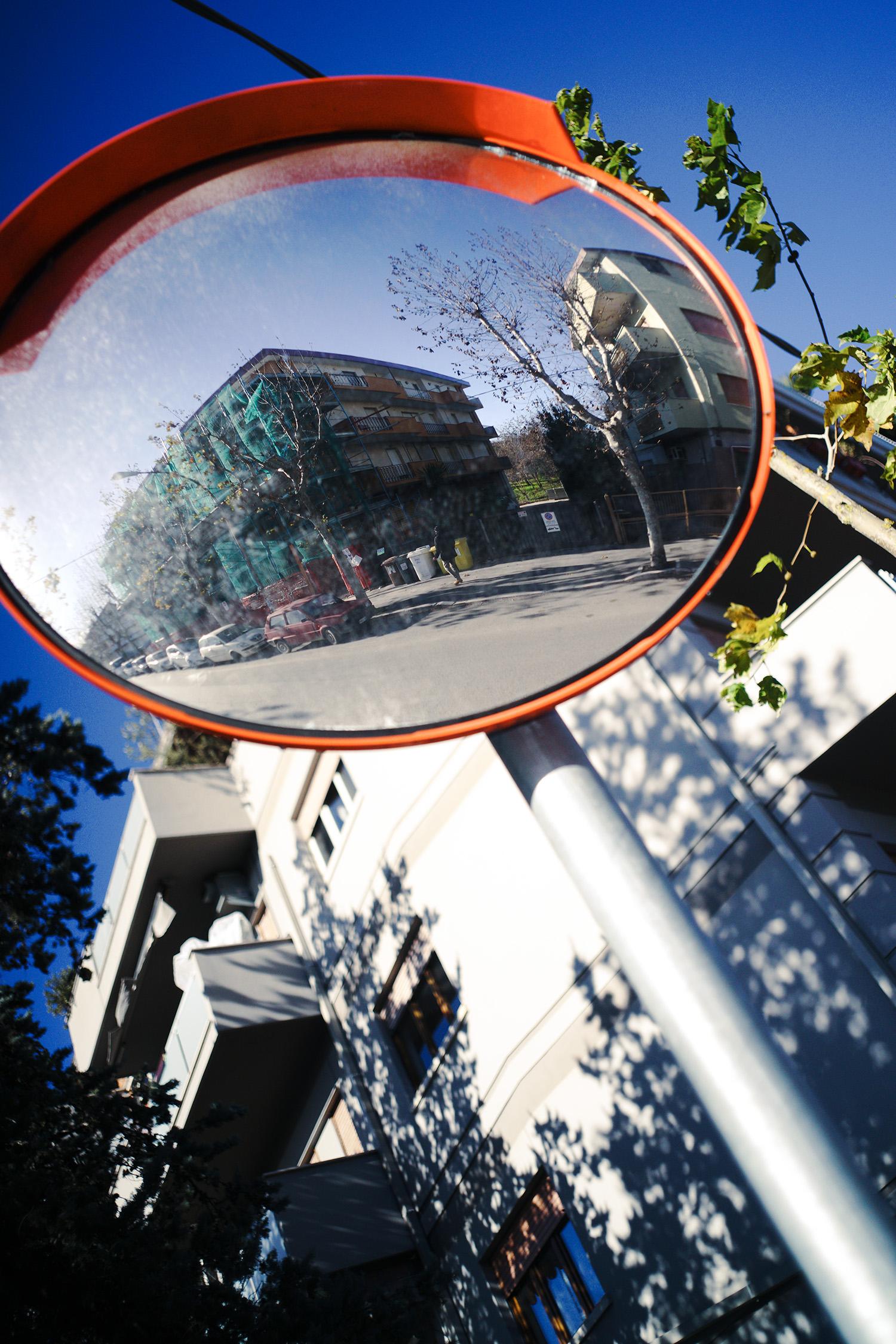 Road bike mirror, Rome, 2016