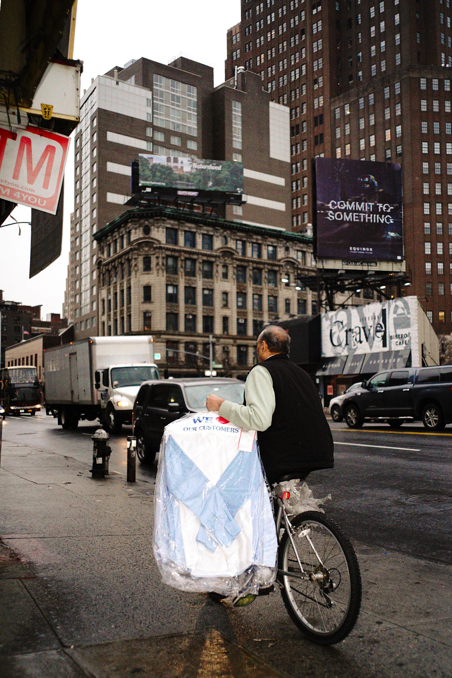 Man on bike, NYC, 2017
