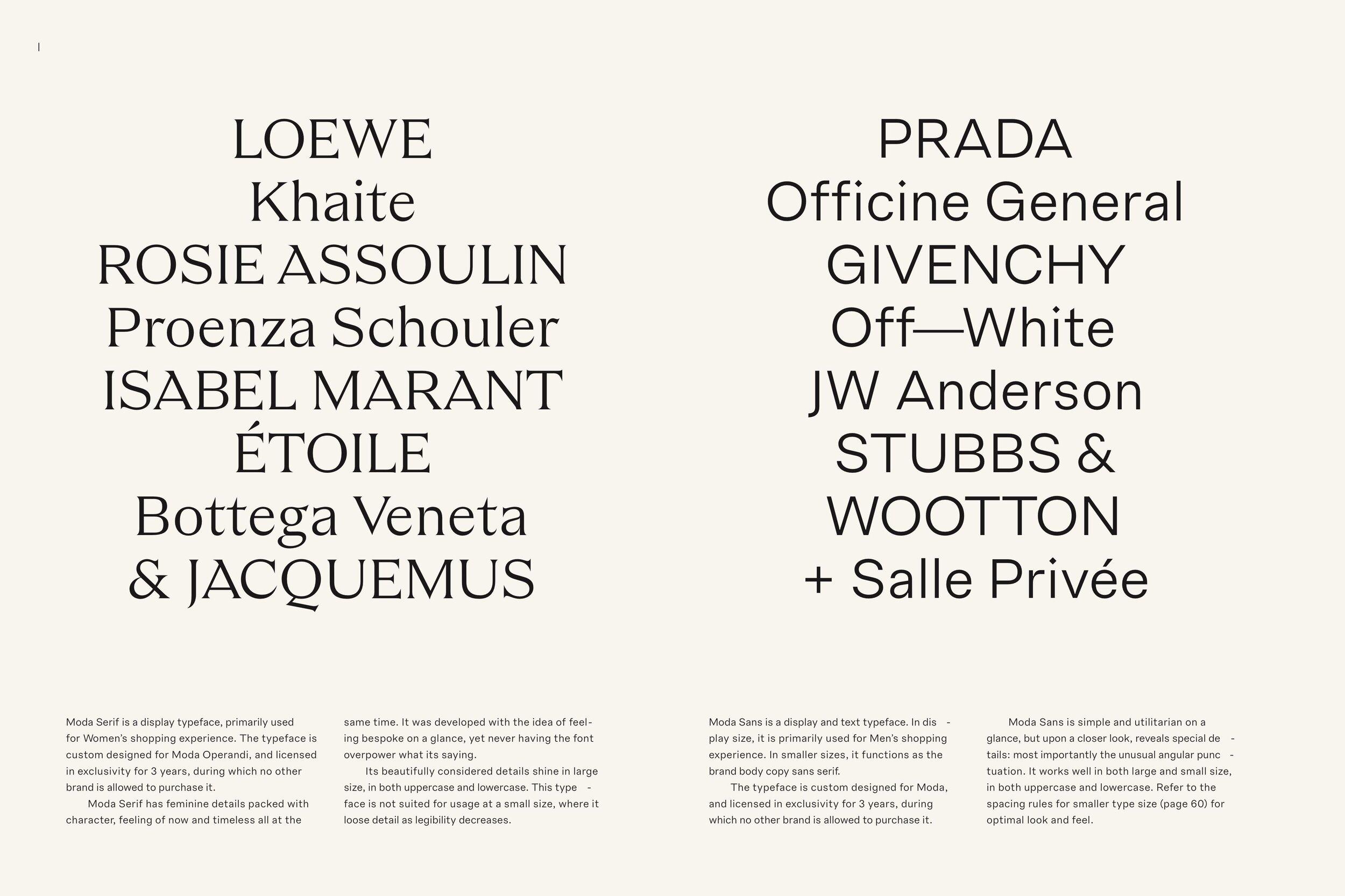 Moda Sans & Serif by Lotta Nieminen, Shick Toikka.