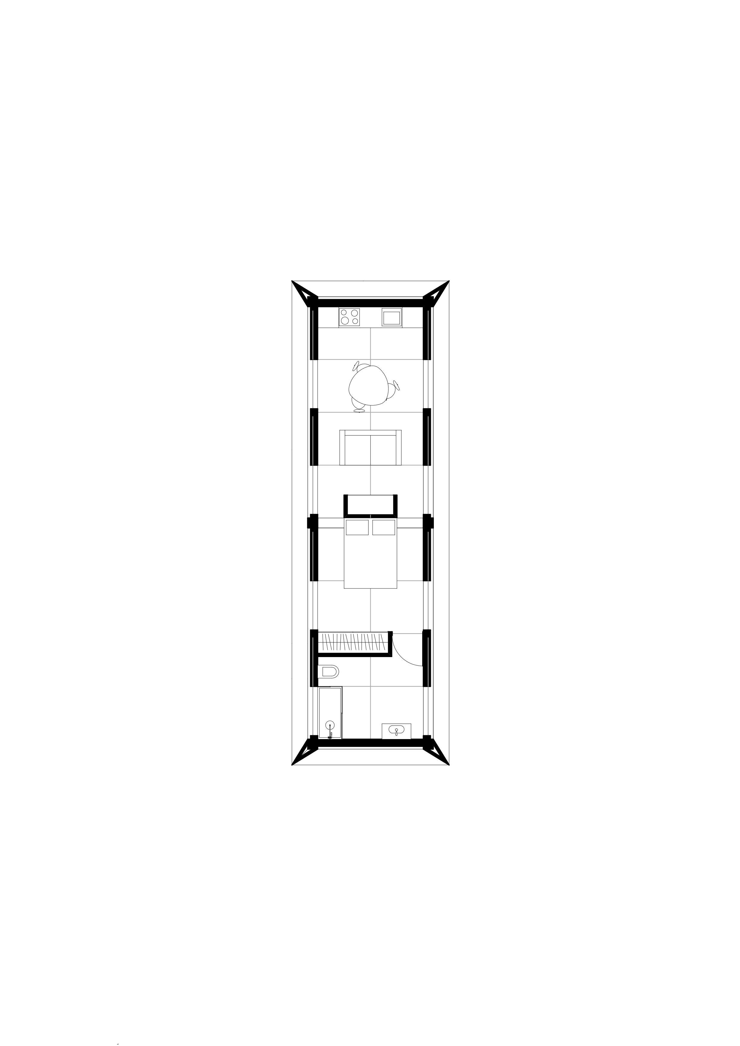 MIMA House Studio  Total Area 61m2