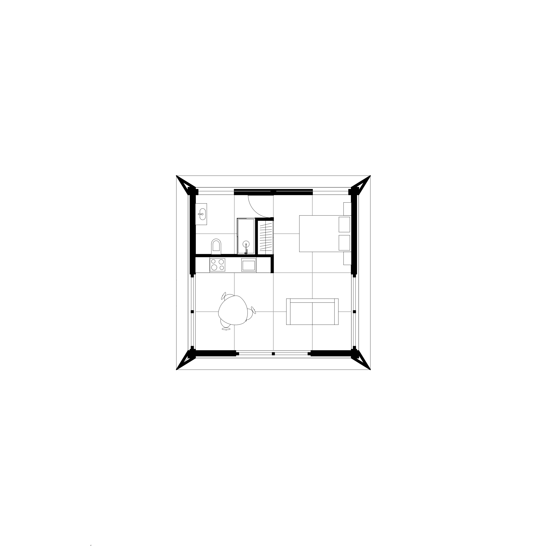MIMA House Loft 1.0  Total Area 56m2
