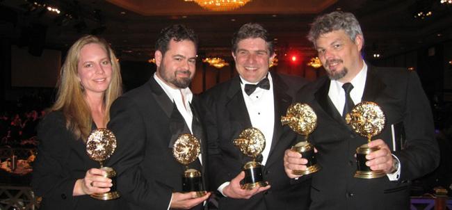 Shannon Gans, Matthew Gratzner, Scott Beverly and Ian Hunter (from left) at the VES Awards