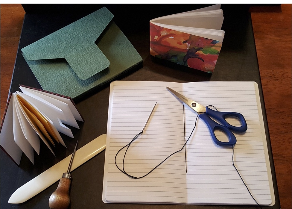 Join Red Bird Chapbooks & Artista Bottega for a Bookmaking Workshop   Simple Book Structures   Saint Paul, MN, April 29, 2017. Red Bird editor and book designer, Sarah Hayes, will be leading a workshop on simple book structures at Artista Bottega. Workshop participants will learn about basic sewn and adhesive bound book structures and the tools required to produce them. All participants will have the opportunity to make a book to take home with them.  The workshop will run from 11:00 am to 2:00 pm at Artista Bottega, 937 West 7th Street in Saint Paul, MN. The fee for the class is $35 and all supplies are included. Proceeds will benefit Red Bird Chapbooks and support their ongoing work with authors and artists.   Red Bird Chapbooks   An independent non-profit publisher of quality chapbooks, broadsides and literary pamphlets. We work with aspiring and inspiring authors and artists to help them reach a larger audience. More information is available on our website:  www.redbirdchapbooks.com .